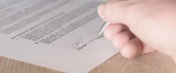 Unterschrift / Garantie